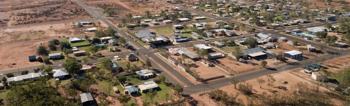 Aerial view of Thargomindah QLD